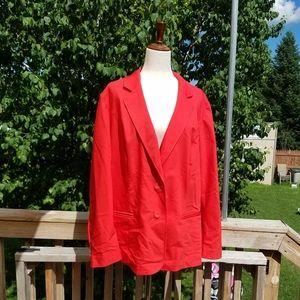 Lane Bryant Red Plus Blazer